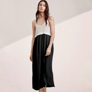 {Wilfred} 100% Silk Bisous Maxi Slip Dress